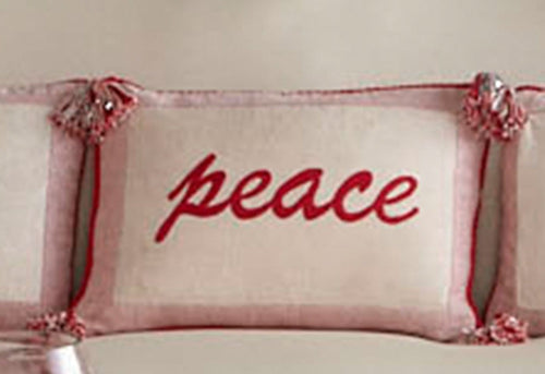 Peace Glitter 14x24 Decorative Pillow