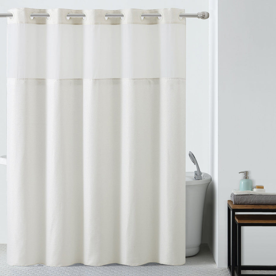 Silver Lux Hookless® Shower Curtain