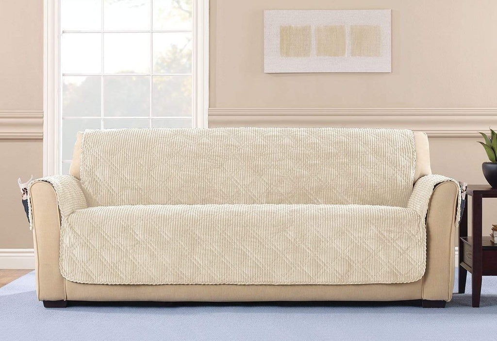 Wide Wale Corduroy Sofa Furniture Cover