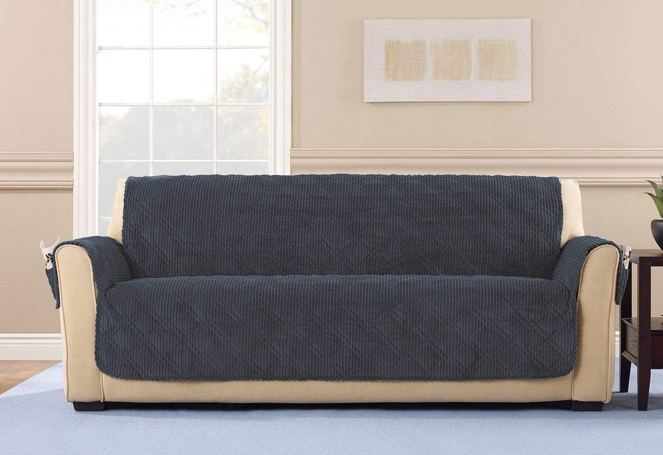 Wide Wale Corduroy Sofa Furniture Cover | SureFit