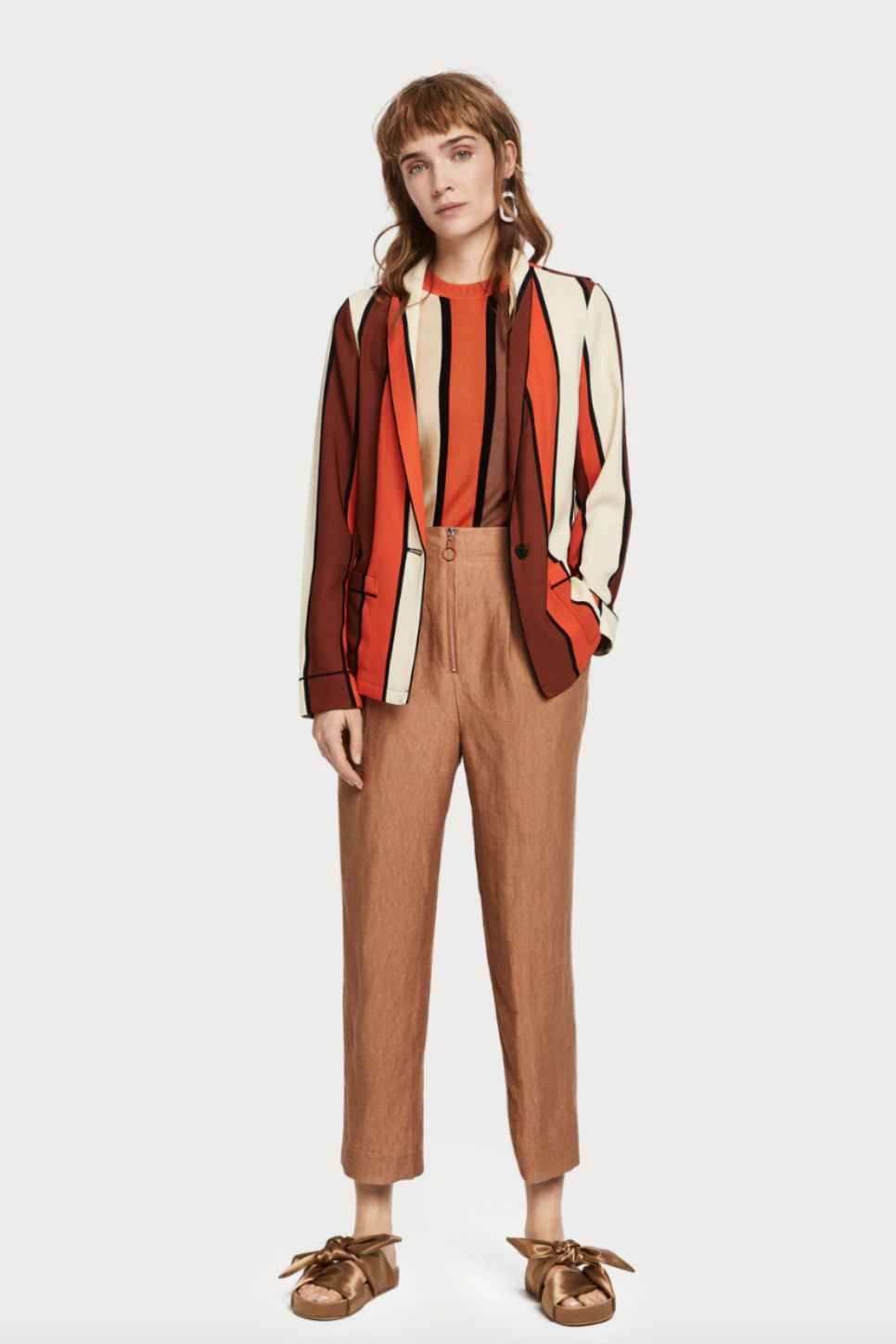 Scotch and Soda - Striped Drapey Blazer - Multi