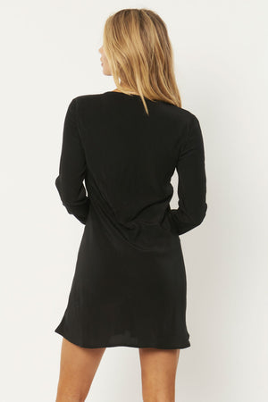 Amuse Society - Jupiter Woven Mini Dress - Black - Back