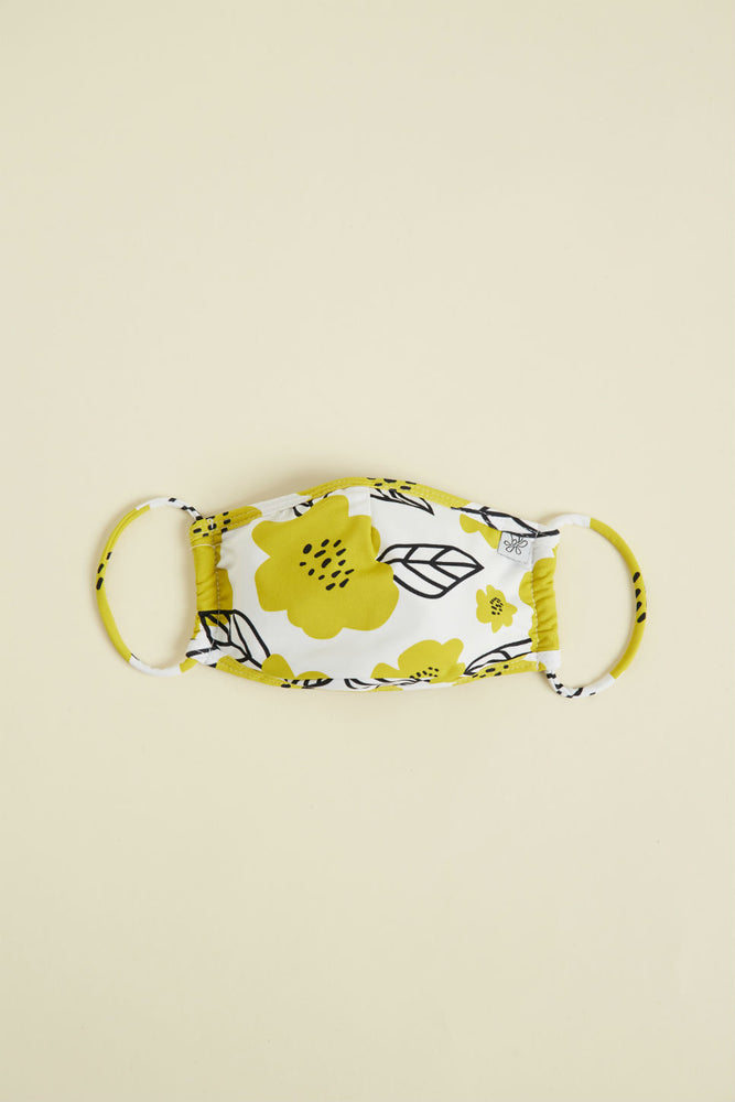 FACE MASK Yellow Flower