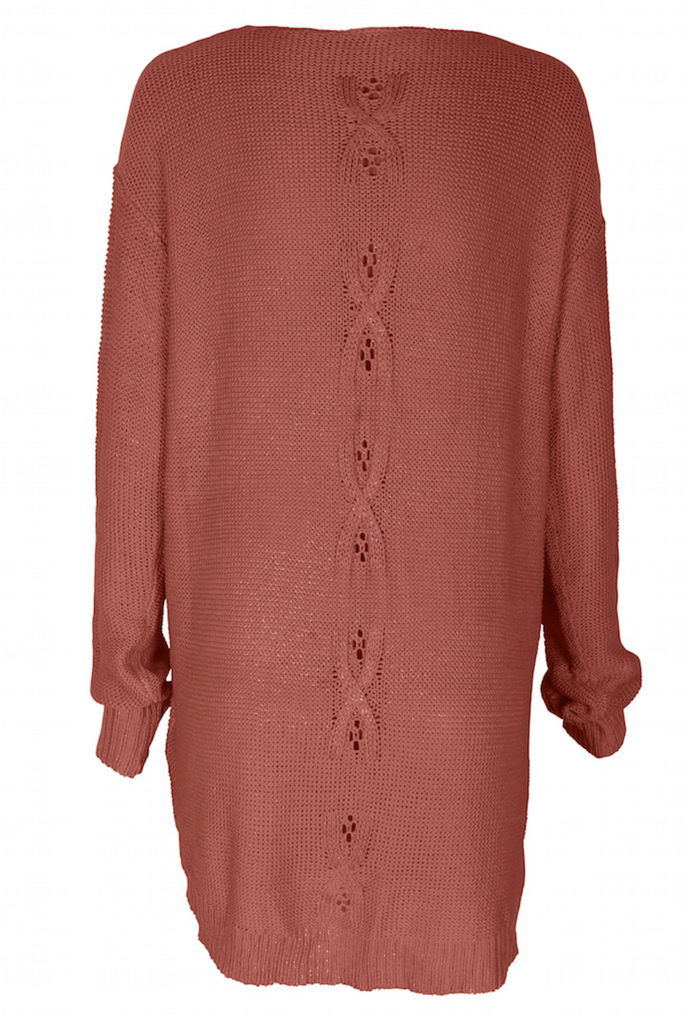 Somedays Lovin - Patti Knit Tunic - Rose - Back