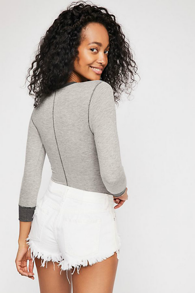 Free People - Good on You LS - Heather Grey - Back