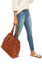 Able - Rachel Utility Bag - Whiskey - Model