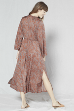 Outerknown - Rhiannon Wrap Dress - Nutmeg Laurel - Detail