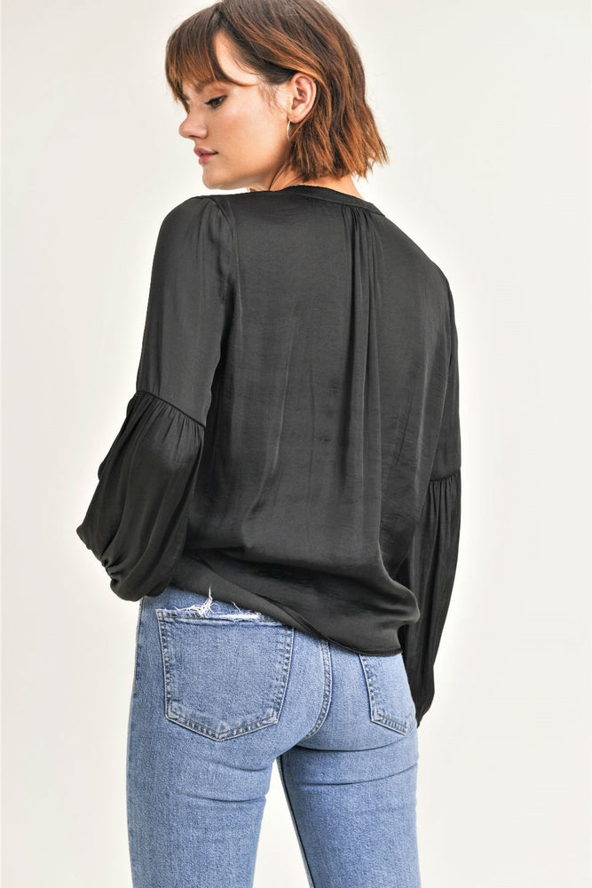 Reset By Jane - Kimber Woven LS - Black - Back