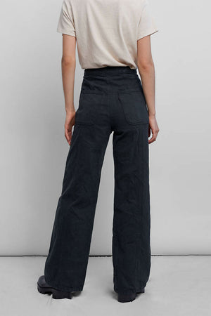 Levis - Wellthread Ribcage Wide Leg - Eclipse Mineral Black Hemp - Back