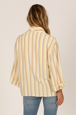 Amuse Society - Al Fresco LS Woven - Citron - Back
