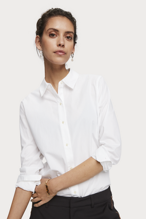 Scotch & Soda - Classic LS Button Up - White - Front