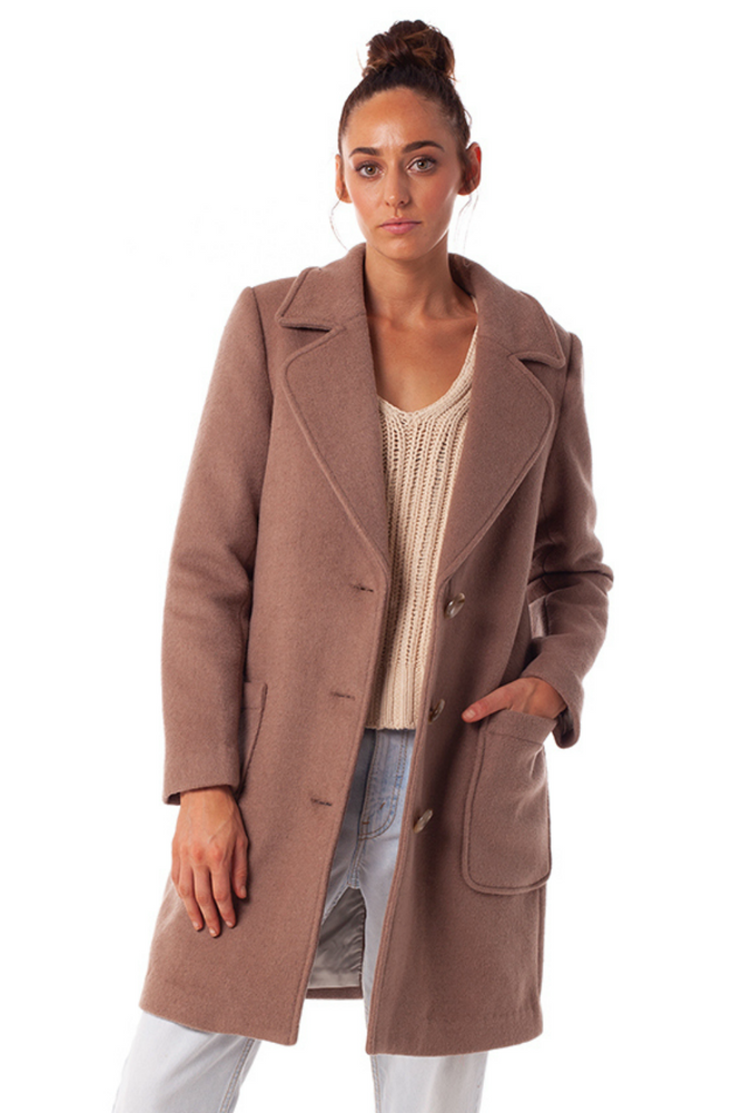Rhythm - Chicago Coat - Latte - Front