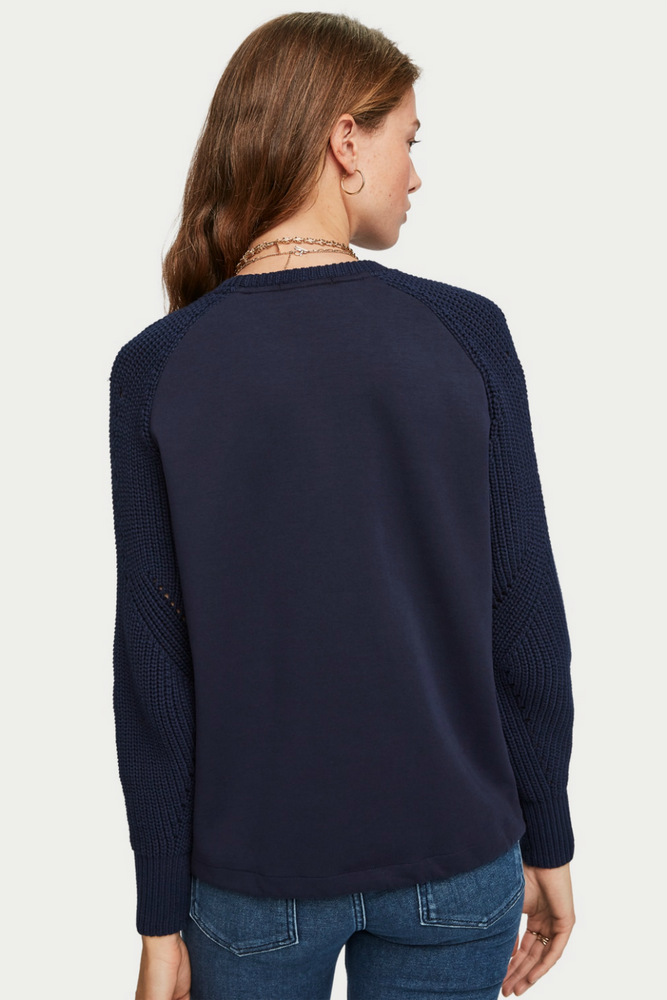 Scotch & Soda - Crew Neck Knit Sweater - Navy