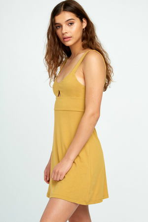 RVCA - All Talk Dress - Camel - Side