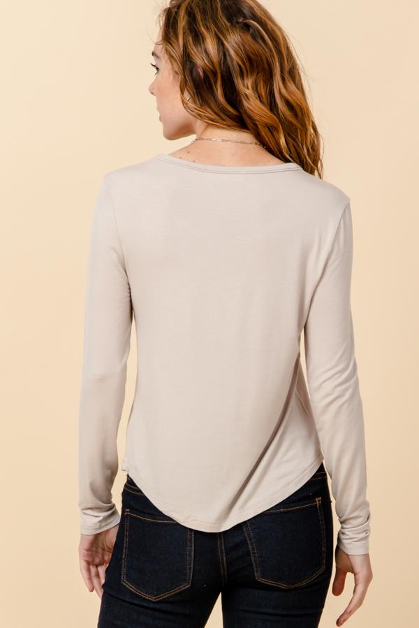 Double Zero - Scoop Neck LS - Moth Grey