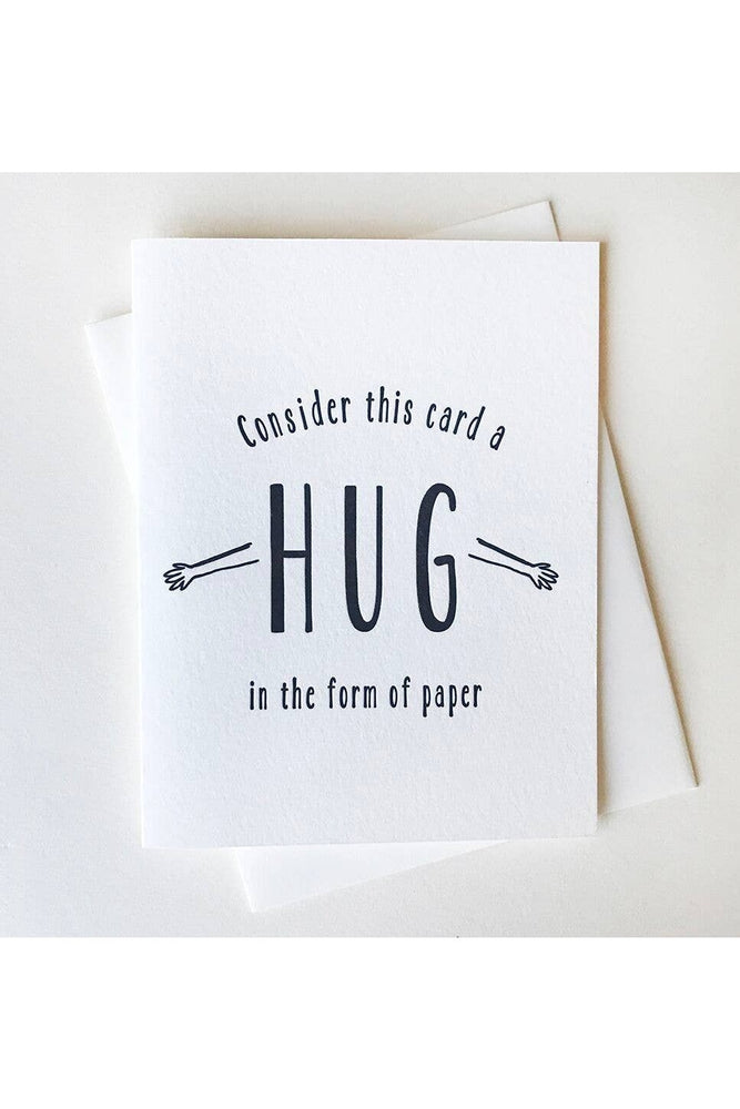 Steel Petal Press - Paper Hug Card