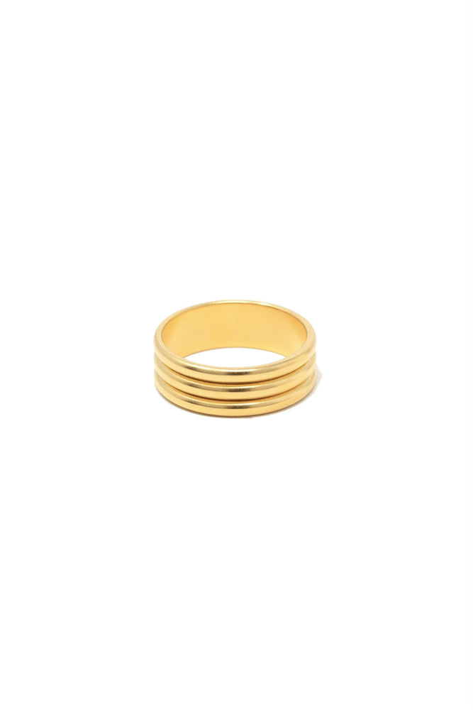 Able - Triple Wave Ring - Gold