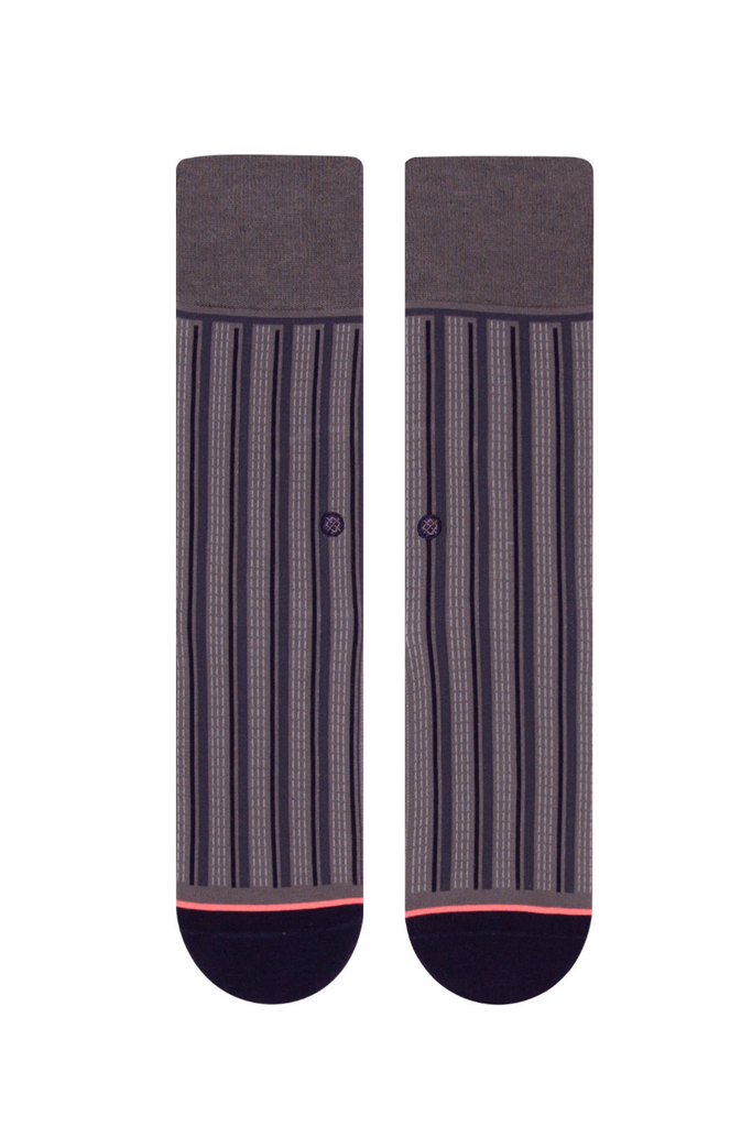 Stance - Stripe Down - Charcoal - Front