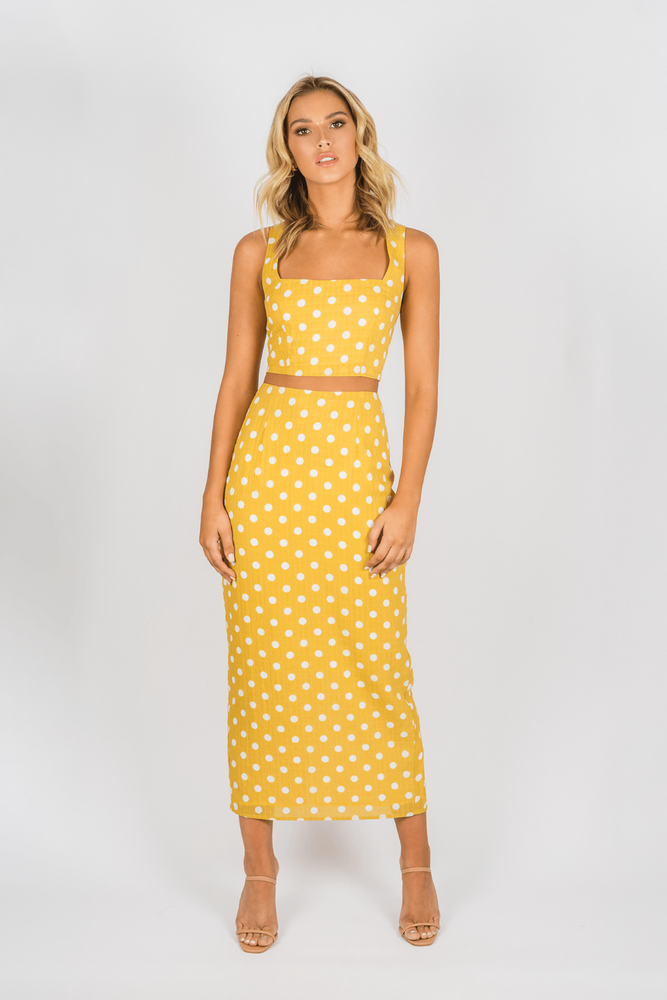 Toby Heart Ginger - Selena Skirt - Yellow Spot - Front
