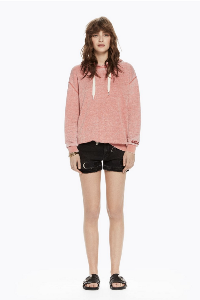 Scotch and Soda - Burn Out Hoody - Terra Cotta