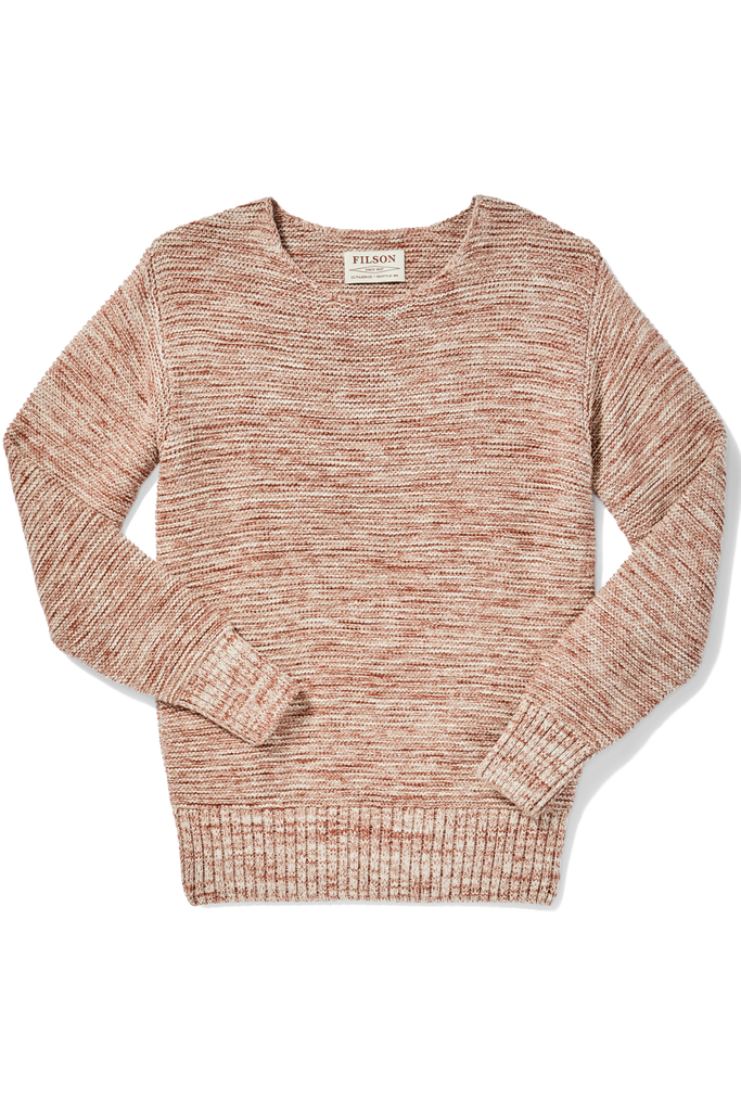 Filson - Lake Quinault Crewneck Sweater - Natural Clay Melange - Front