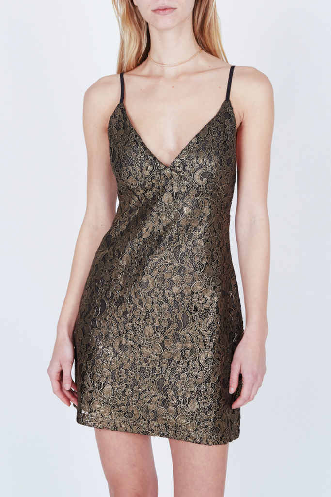 Obey - Dominique Dress - Gold - Front