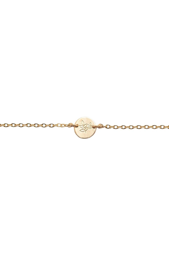 Able - She's Worth More Grow Mini Tag Bracelet - Gold