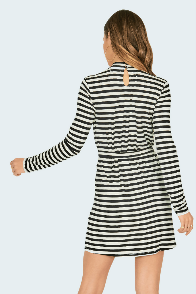 Amuse Society - Frolic Dress - Stripe - Back