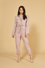 MinkPink - Work It Boiler Suit - Pink - Back