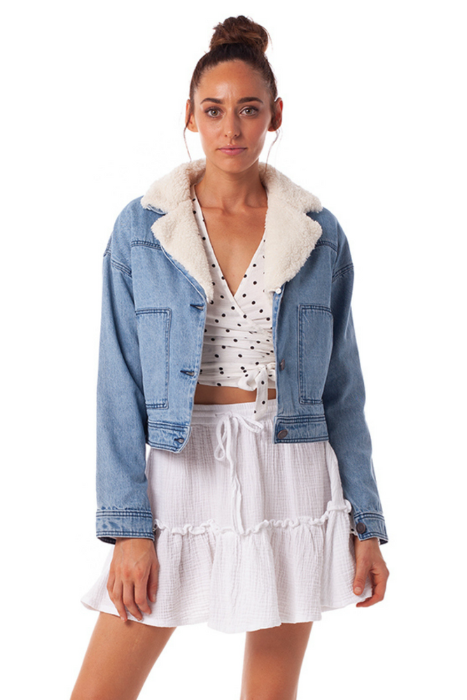 Rhythm - Charleston Jacket - Mid Wash Denim - Front
