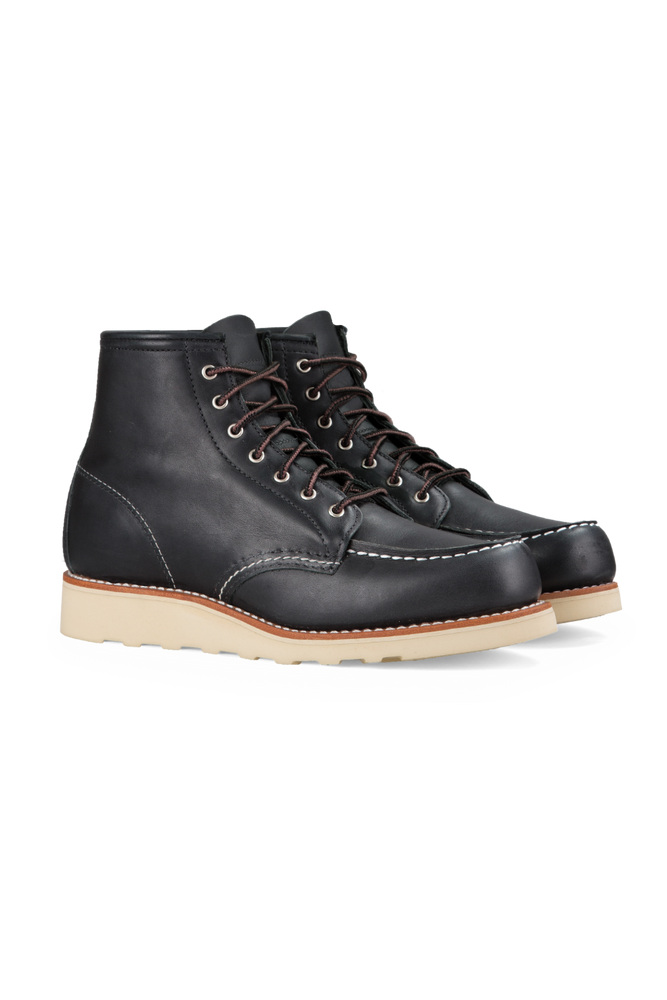 Red Wing Heritage - 6 Inch Moc Toe - Black - Back