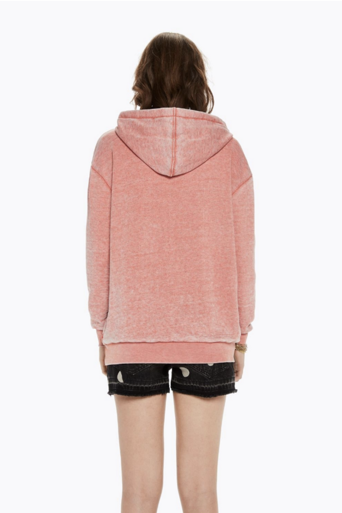 Scotch and Soda - Burn Out Hoody - Terra Cotta - Back