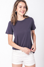 Double Zero - Soft Basic Tee - Charcoal - Front