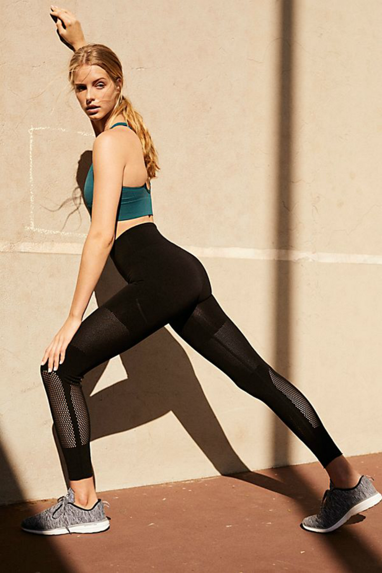HI WAISTED SCULPT LEGGING MESH