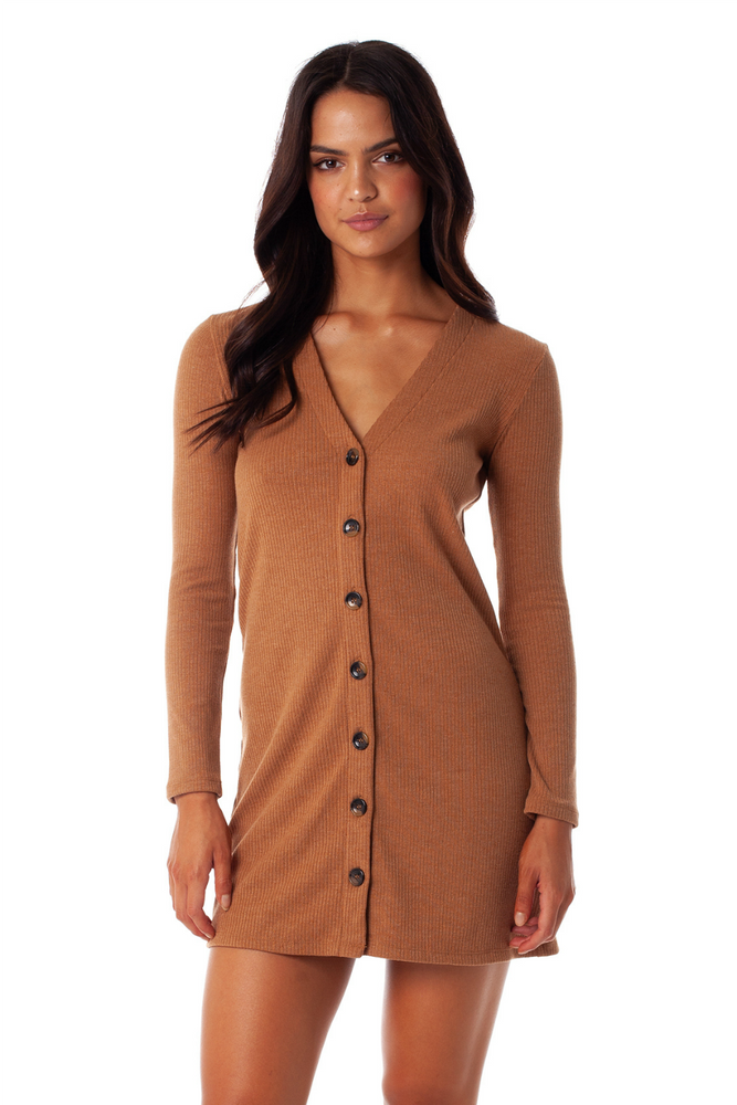 Rhythm - Bristol Dress - Latte - Front