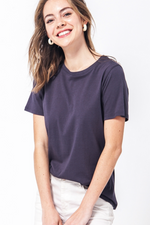 Double Zero - Soft Basic Tee - Charcoal