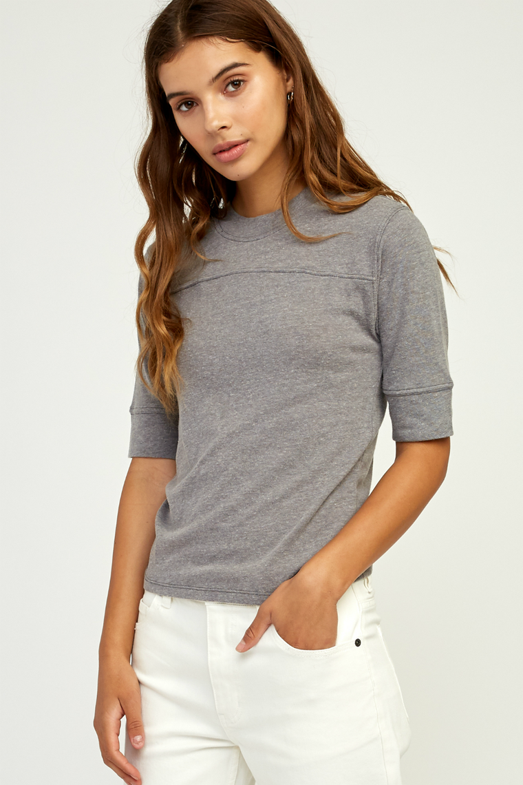 RVCA - Stitched Tee - Heather Grey - Back