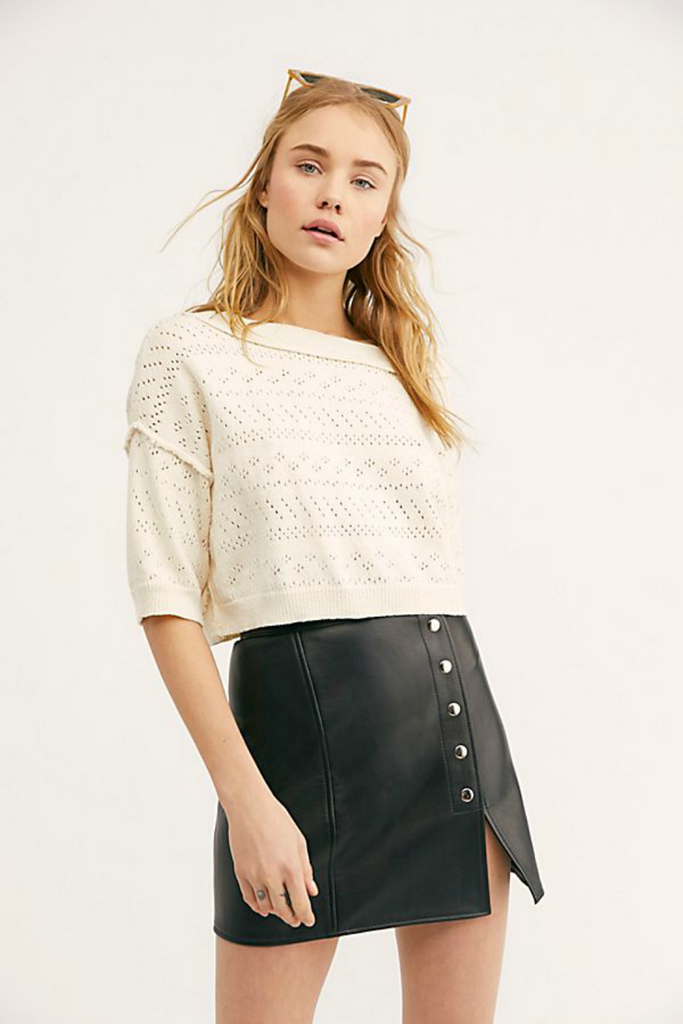 Free People - Sand Castle Sweater - White - Front