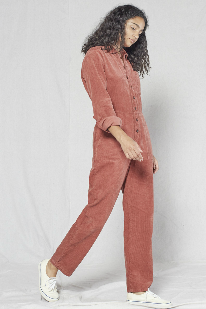 Outerknown - Outpost Cord Jumpsuit - Nutmeg - Detail
