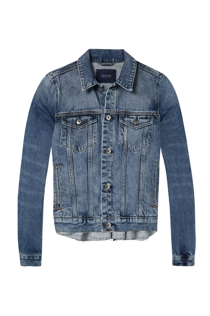 Scotch and Soda - Denim Trucker Jacket - Indigo - Front