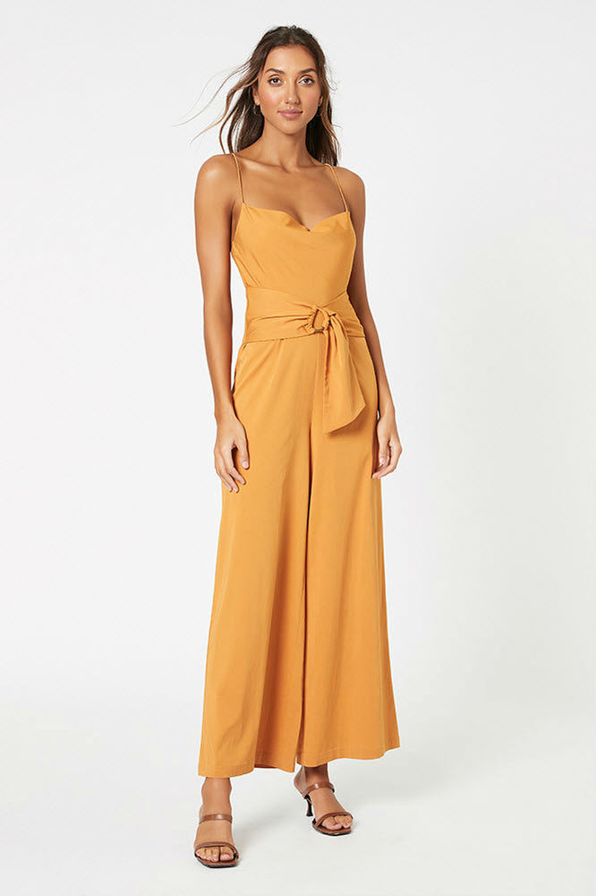 MinkPink - Cowl Neck Jumpsuit with D-Ring - Marigold