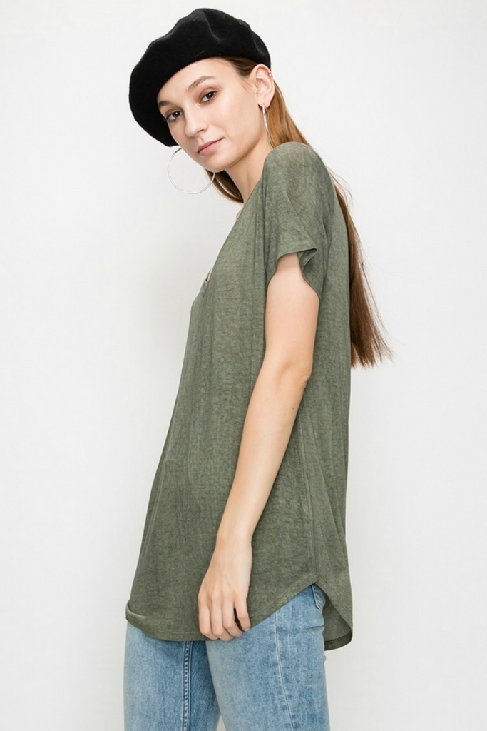 Double Zero - Lori SS - Olive - Side