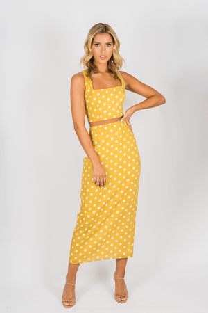 Toby Heart Ginger - Selena Skirt - Yellow Spot
