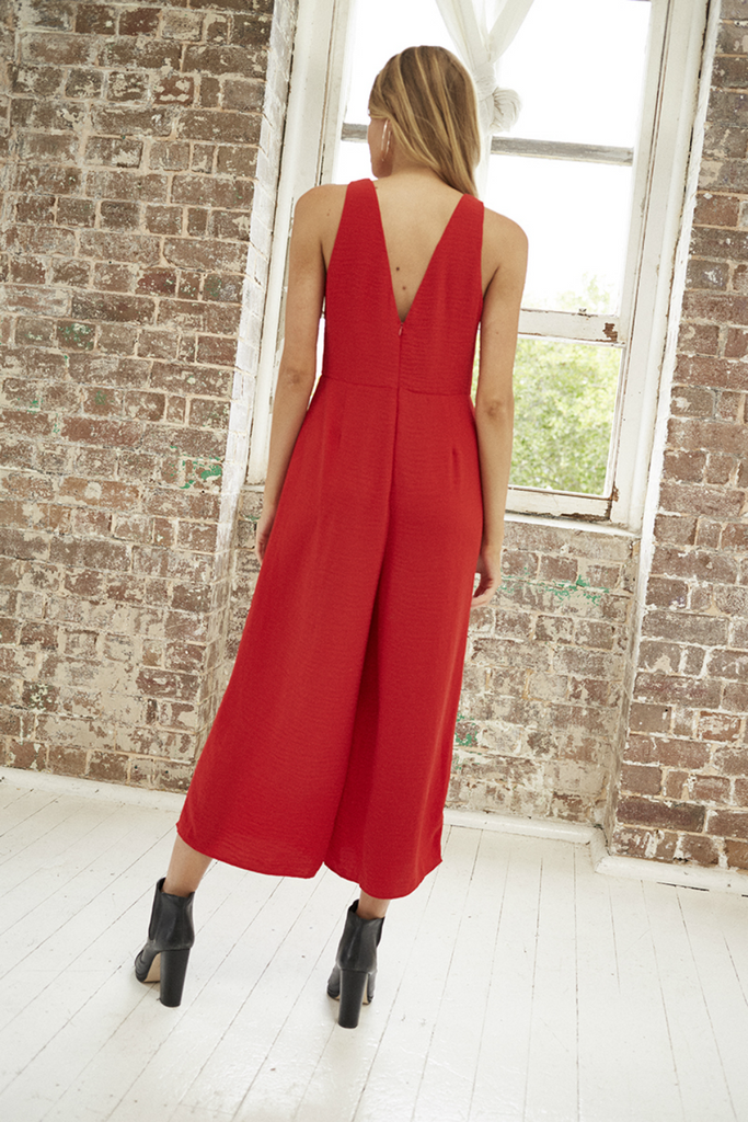 Somedays Lovin - For the Night Jumpsuit - Red - Back