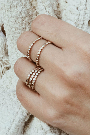 TINY DOT STACKER RING Gold Fill
