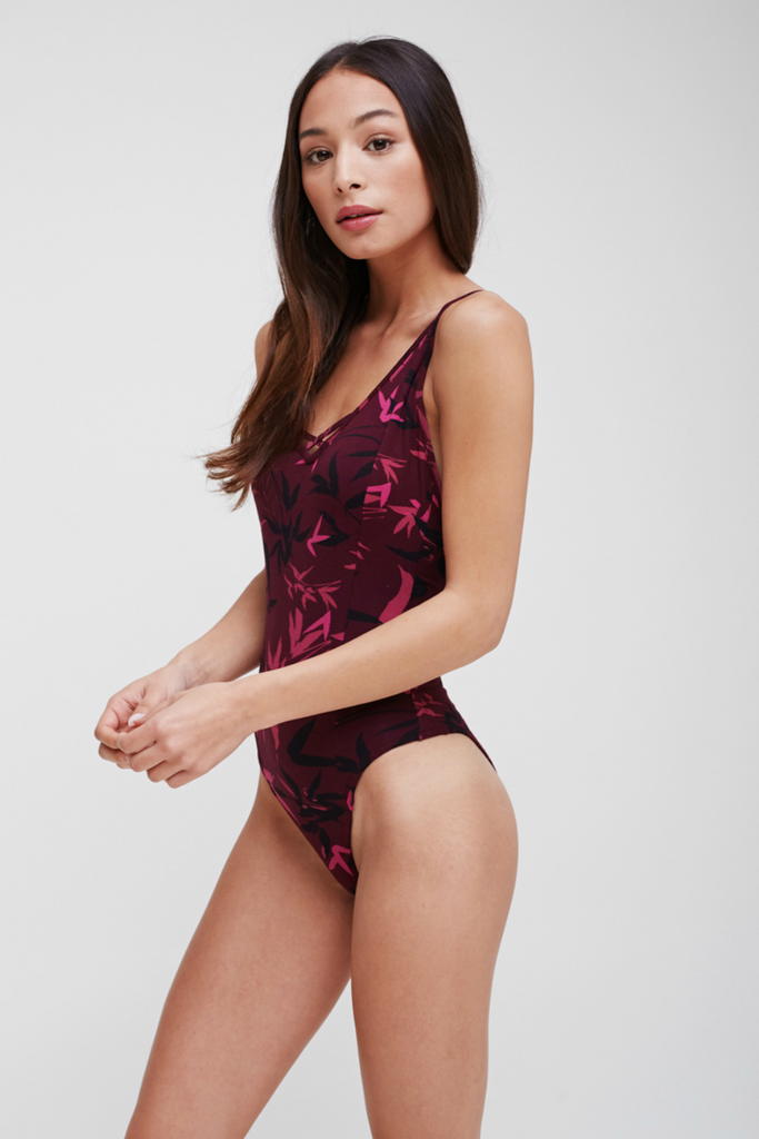 Obey - Kaci Bodysuit - Winetasting Multi - Side