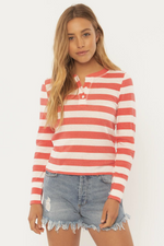 Sisstrevolution - Playin Games LS Knit Top - Cayenne - Front