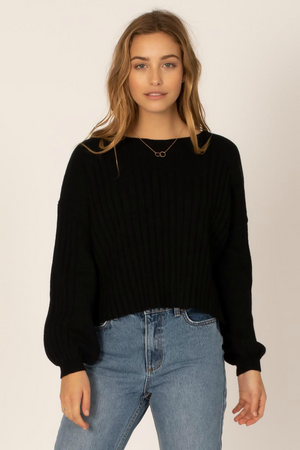 Sisstrevolution - Play Love Knit Sweater - Black - Front