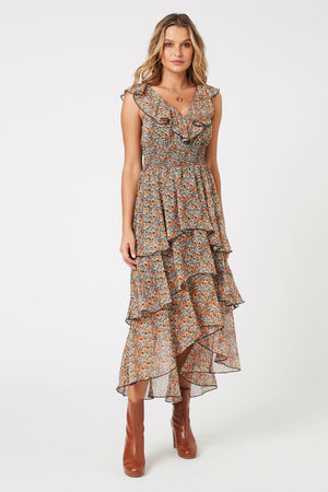 MinkPink - Fleetwood Floral Chiffon Dress - Multi - Front