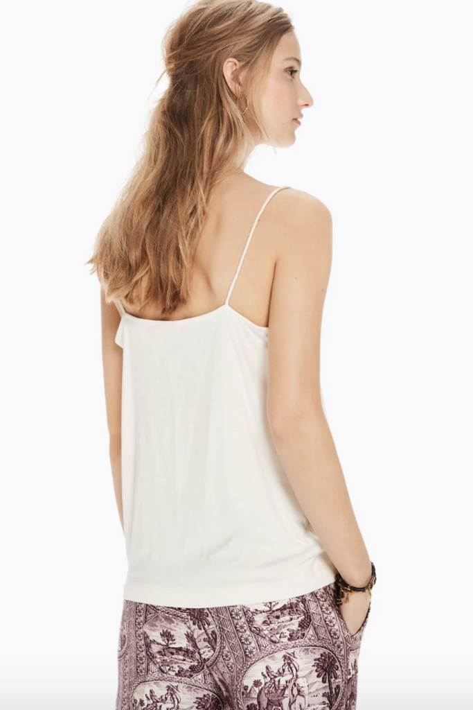 Scotch and Soda - Jersey Back Tank - Cream - Back